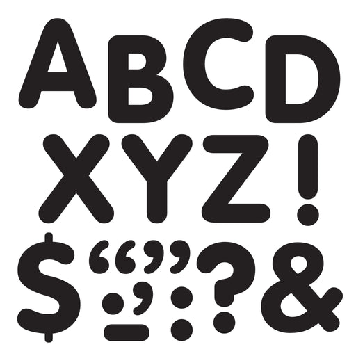 T1791 Letters inch Black