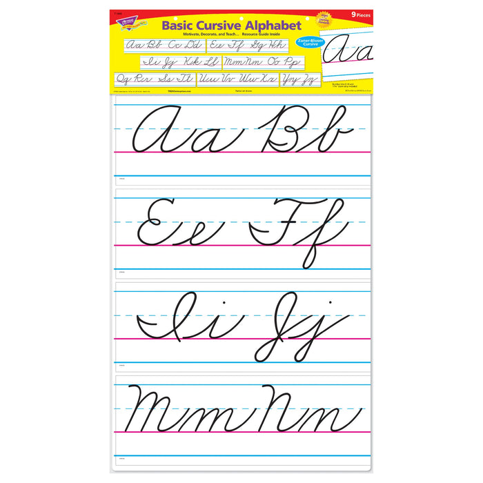 T1859 Bulletin Board Cursive Alphabet Line Package