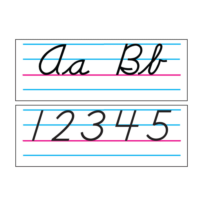 Modern Basic Cursive Alphabet Bulletin Board Set