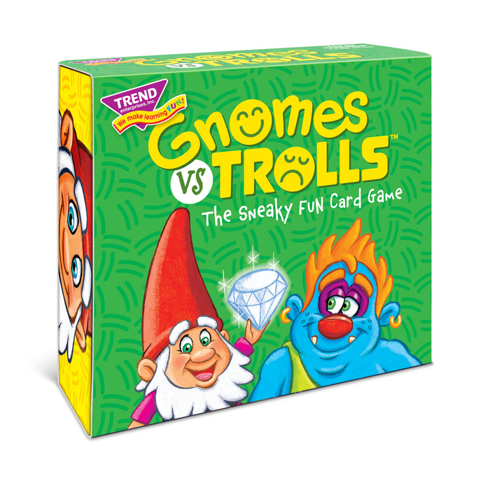 GNOMES vs TROLLS Three CORNER™ Card Game front view with side panel