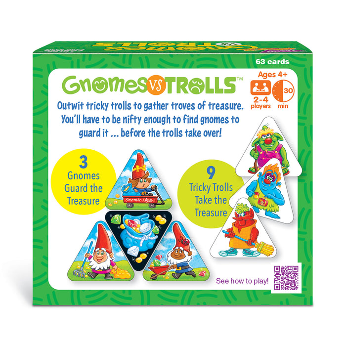 GNOMES vs TROLLS Three CORNER™ Card Game back of box