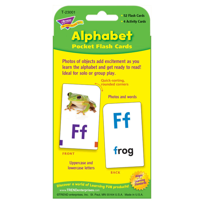 T23001 Flash Cards Alphabet Package Back