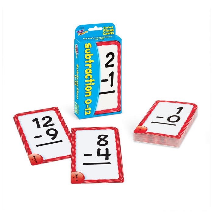 T23005 Flash Cards Subtraction 0 to 12