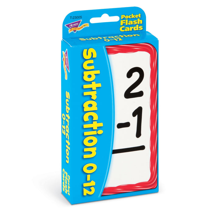 T23005 Flash Cards Subtraction 0 to 12 Package Left