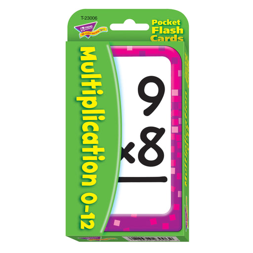 T23006 Flash Cards Multiplication 0 to 12 Package Front