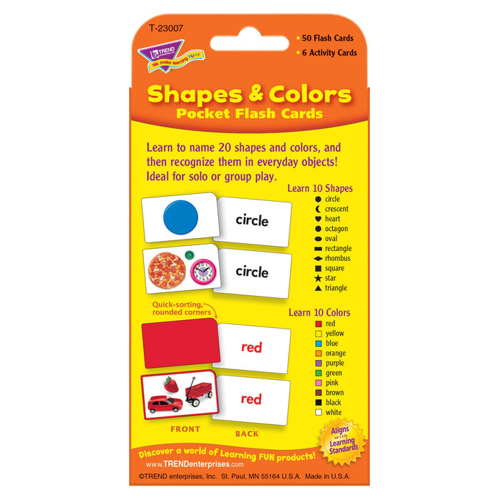 T23007 Flash Cards Shapes Colors Package Back
