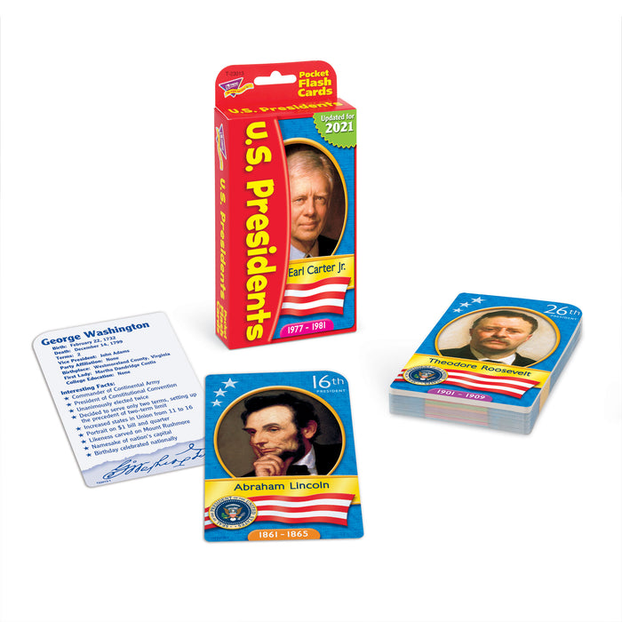 T23013 Flash Cards United States Presidents