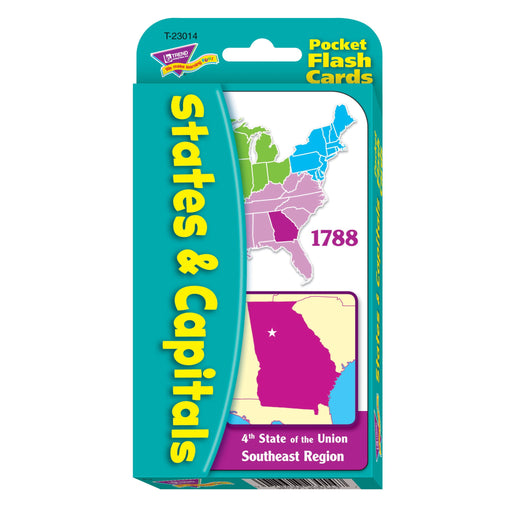 T23014 Flash Cards States Capitals Package Front