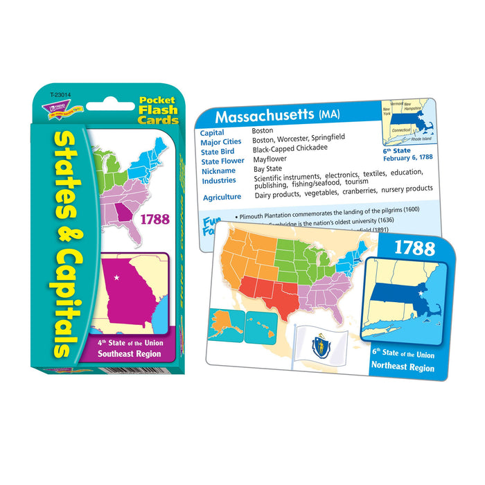 T23014 Flash Cards States Capitals