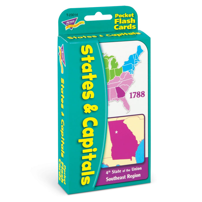 T23014 Flash Cards States Capitals Package Left