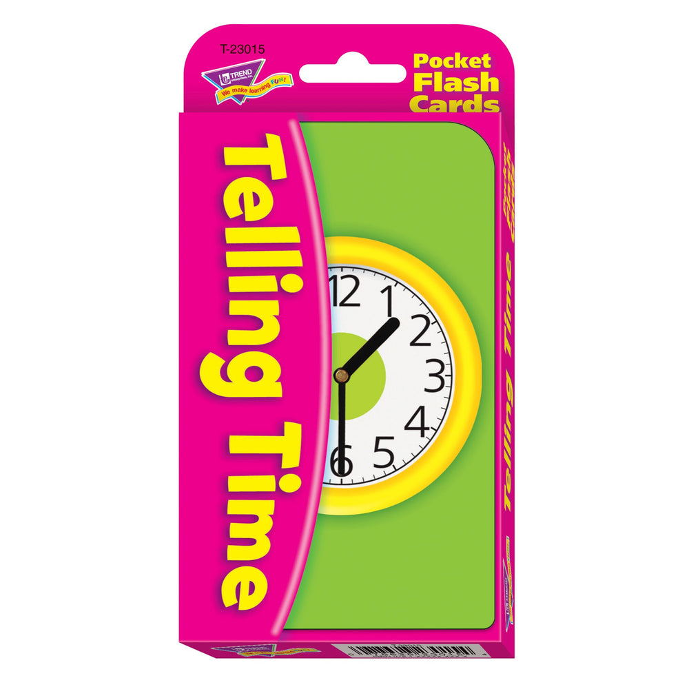 T23015 Flash Cards Telling Time Package Front