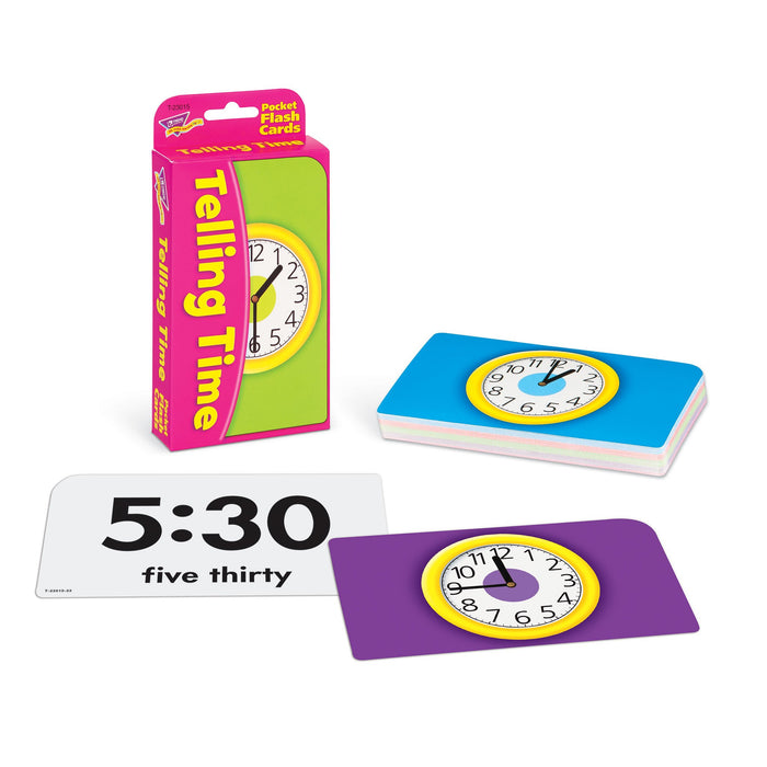 T23015 Flash Cards Telling Time