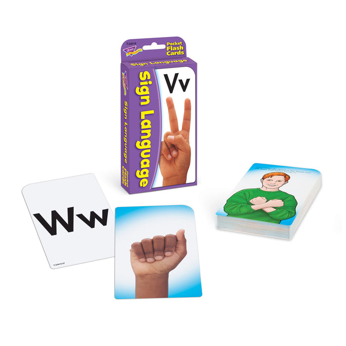 T23016 Flash Cards Sign Language