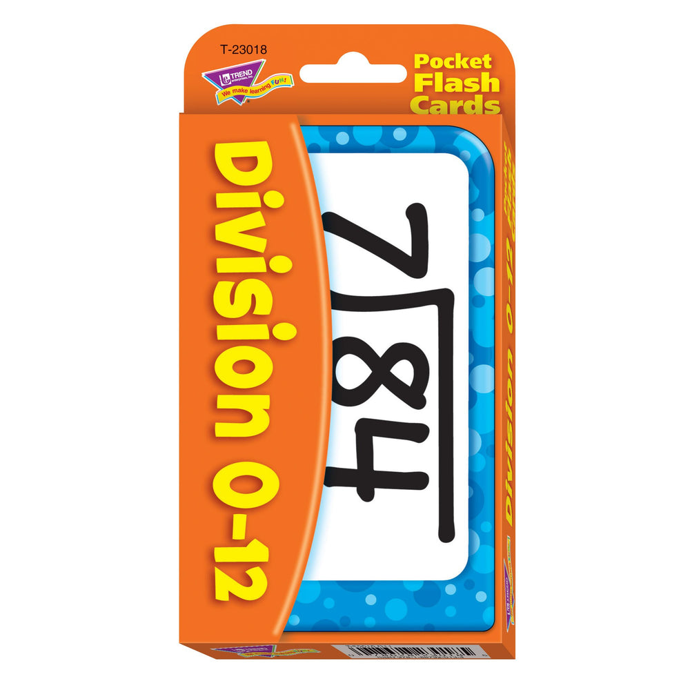 T23018 Flash Cards Division 0 to 12 Package Front