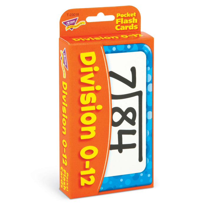T23018 Flash Cards Division 0 to 12 Package Left