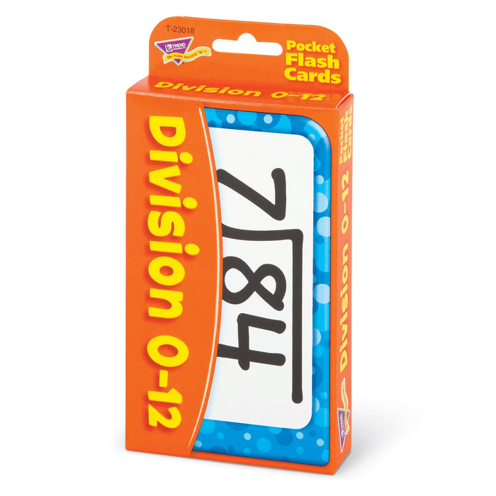 T23018 Flash Cards Division 0 to 12 Package Right