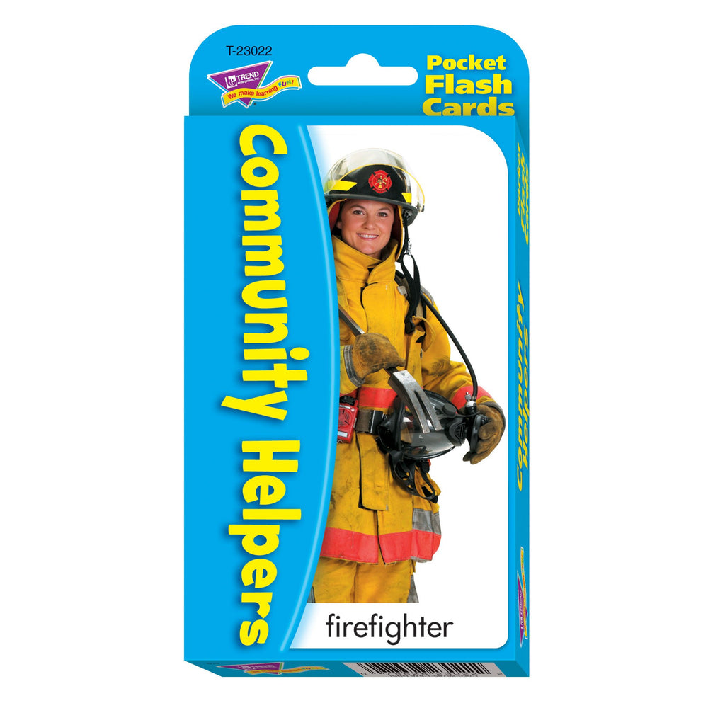 T23022 Flash Cards Community Helpers Package Front