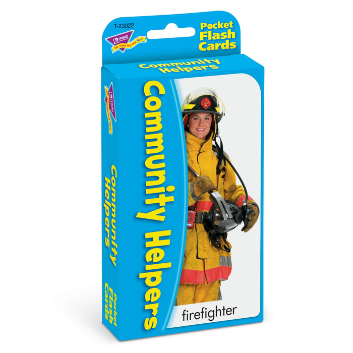T23022 Flash Cards Community Helpers Package Left