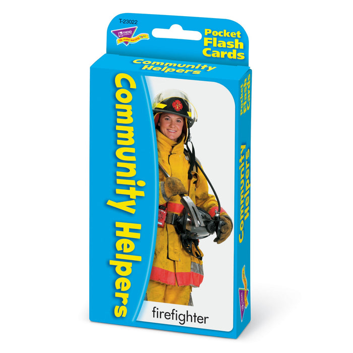 T23022 Flash Cards Community Helpers Package Right