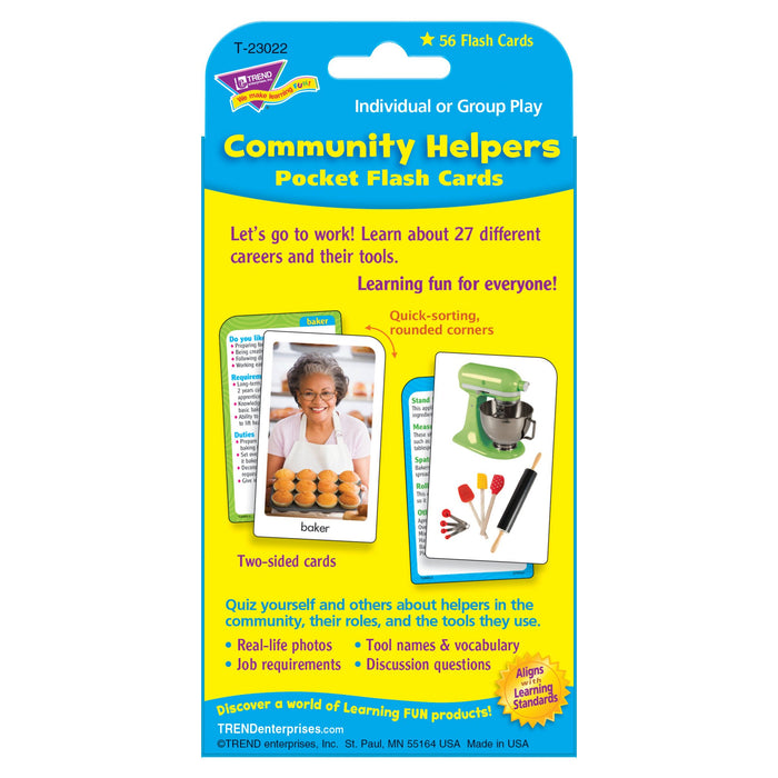 T23022 Flash Cards Community Helpers Package Back