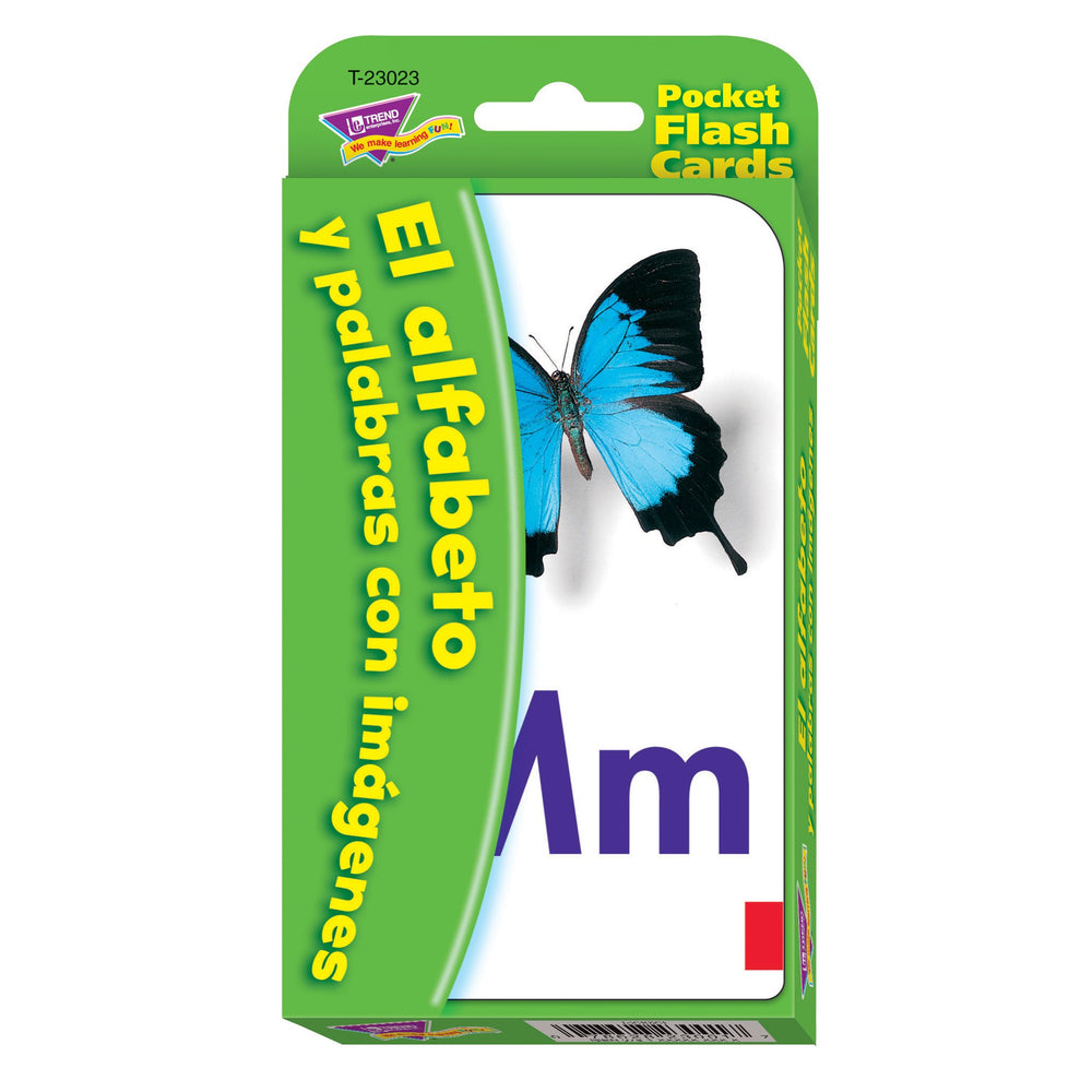 T23023 Flash Cards Alphabet Spanish Package Front