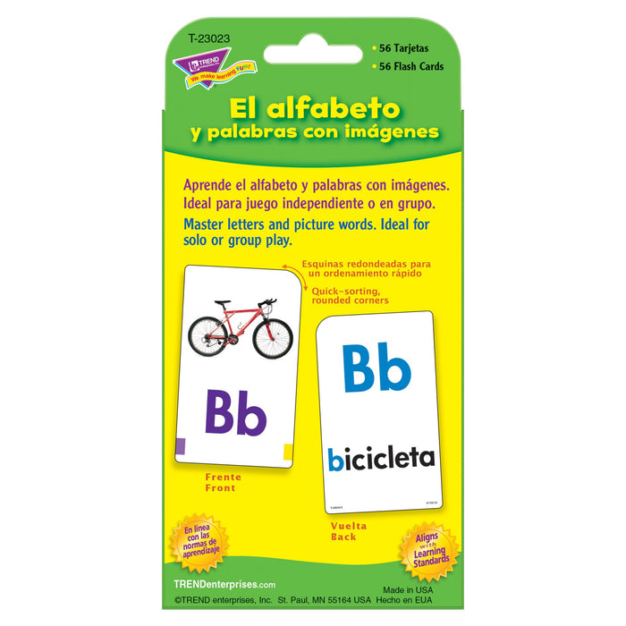 T23023 Flash Cards Alphabet Spanish Package Back