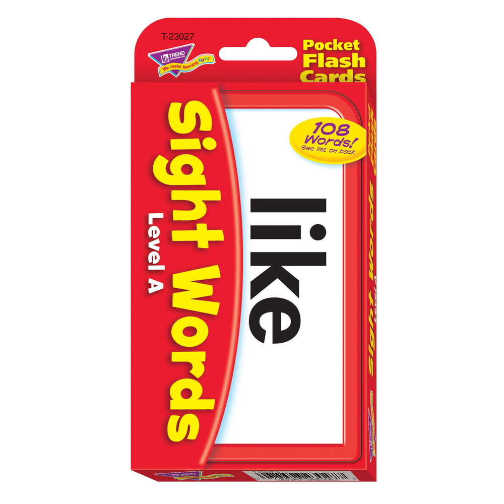 T23027 Flash Cards Sight Words Level A Package Front