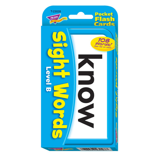T23028 Flash Cards Sight Words Level B Package Front