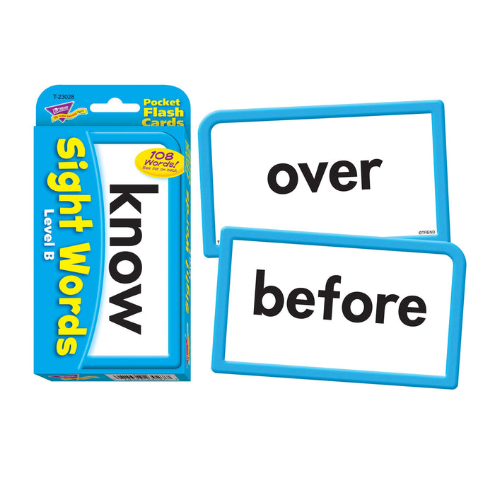 T23028 Flash Cards Sight Words Level B