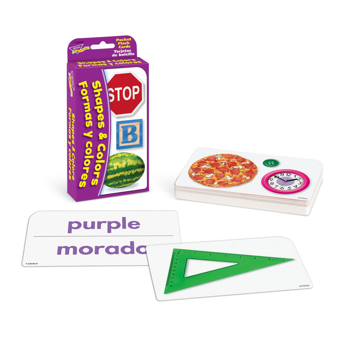 T23030 Flash Cards Colors Shapes Spanish