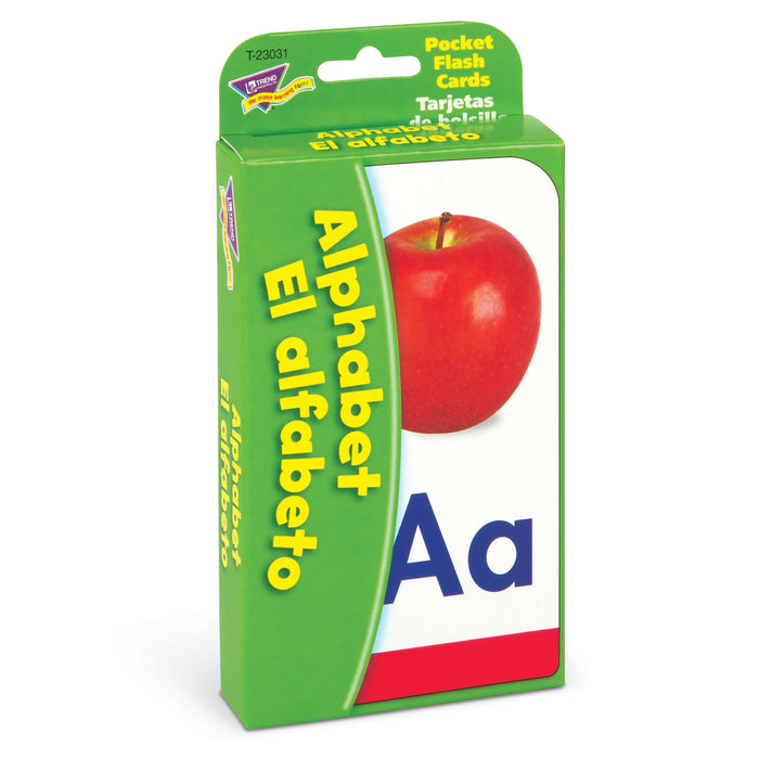 T23031 Flash Cards Alphabet Spanish Package Left