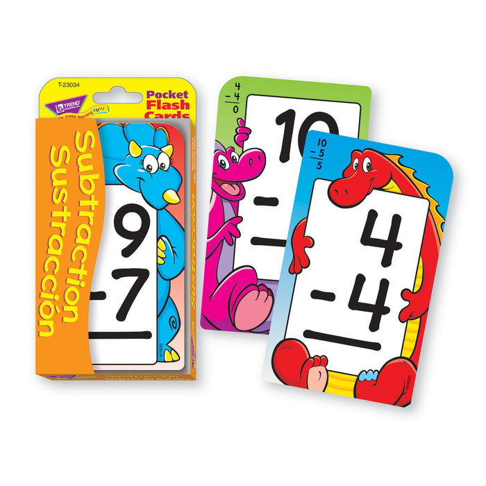 T23034 Flash Cards Subtraction 0 to 12 Spanish