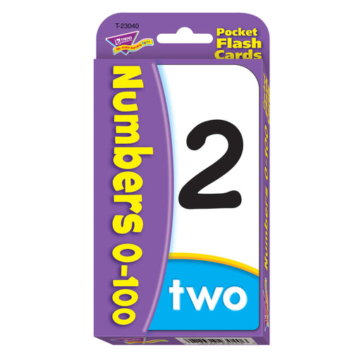 T23040 Flash Cards Numbers 0 to 100 Package Front