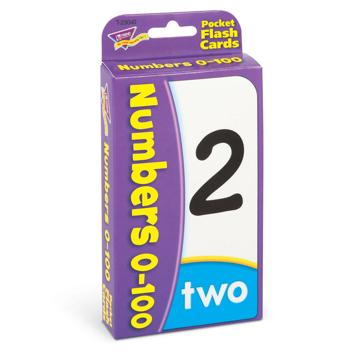 T23040 Flash Cards Numbers 0 to 100 Package Left