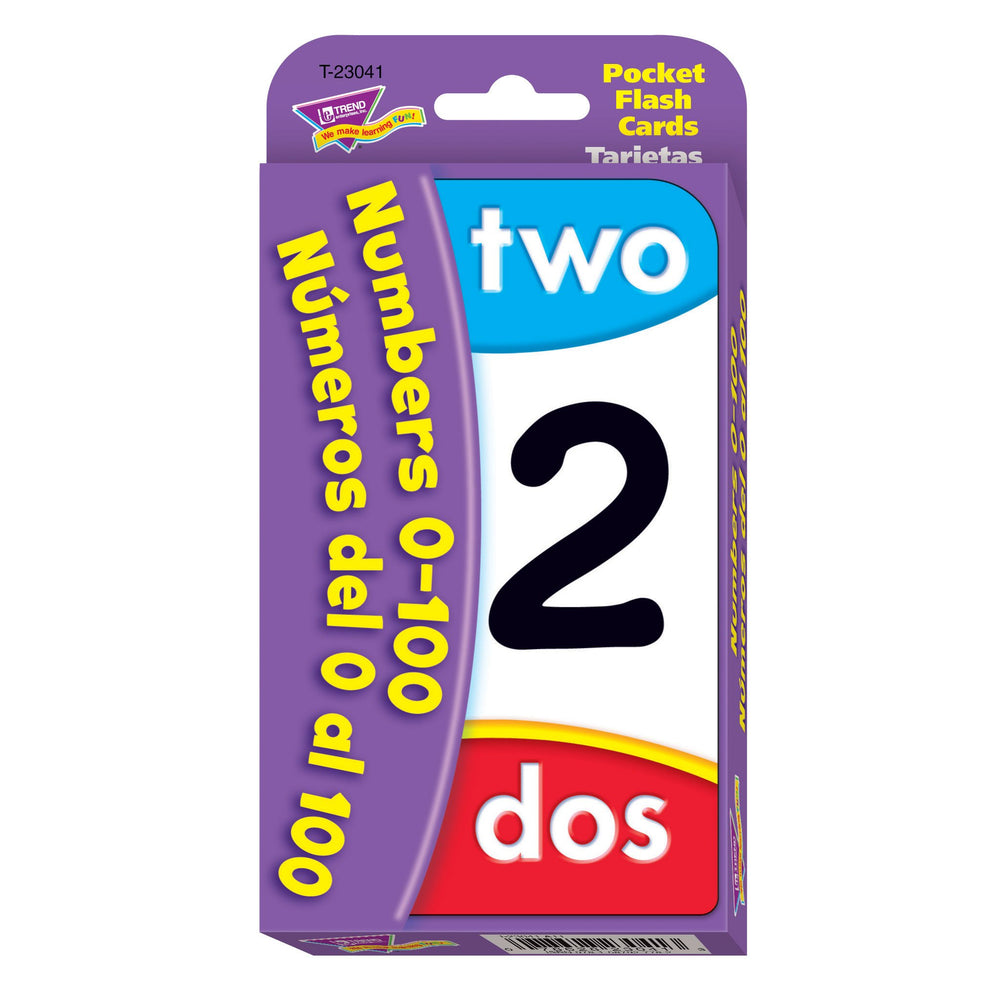 T23041 Flash Cards Numbers 0 to 100 Spanish Package Front