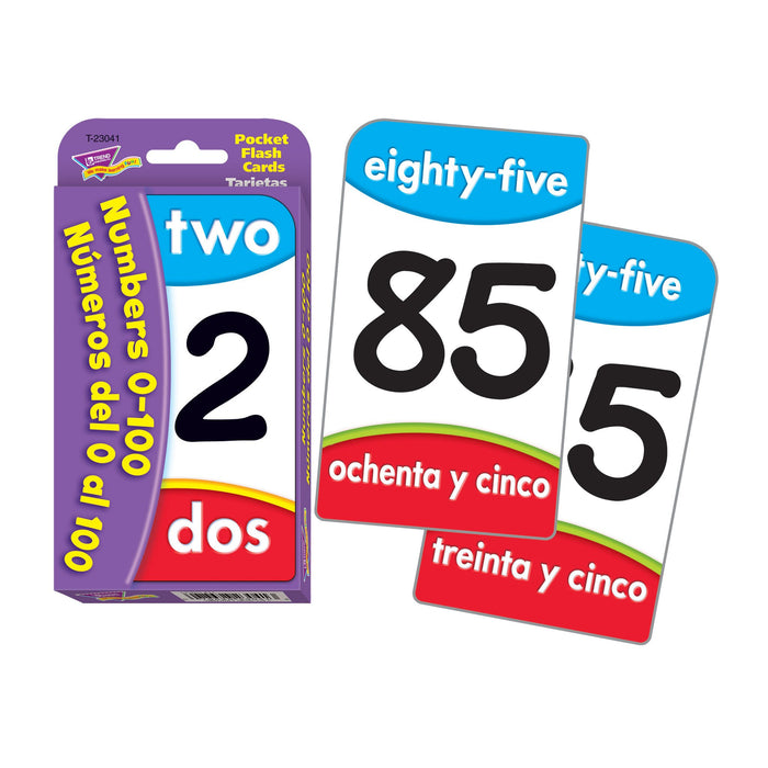 T23041 Flash Cards Numbers 0 to 100 Spanish