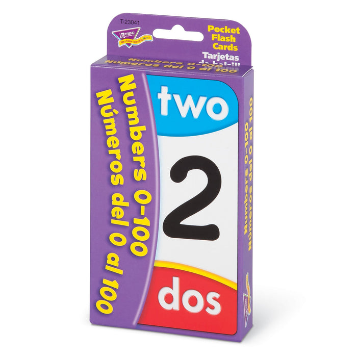 T23041 Flash Cards Numbers 0 to 100 Spanish Package Right