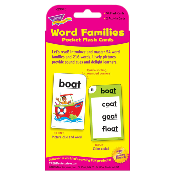 T23045 Flash Cards Word Families Package Back