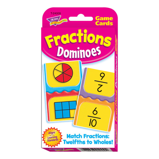 T24009 Game Cards Fractions Dominoes Package Front