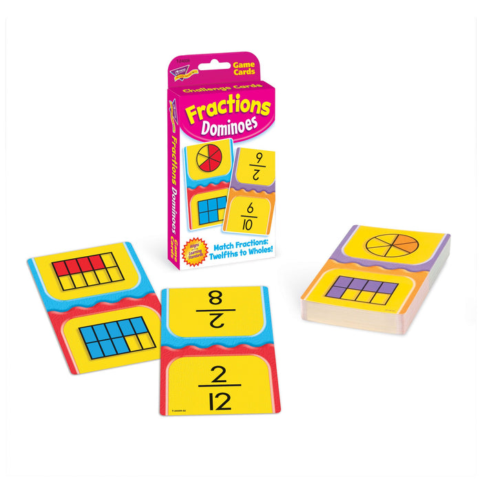 T24009 Game Cards Fractions Dominoes