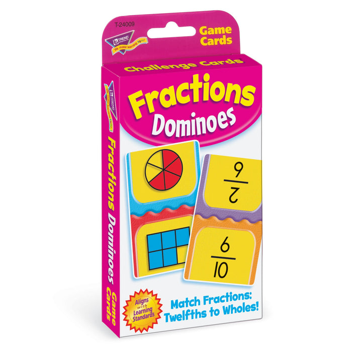 T24009 Game Cards Fractions Dominoes Package Left