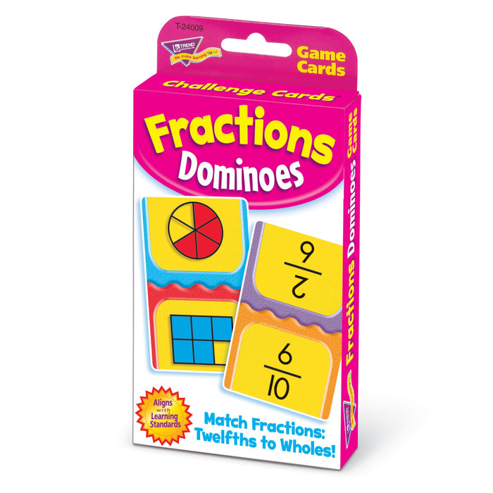 T24009 Game Cards Fractions Dominoes Package Right