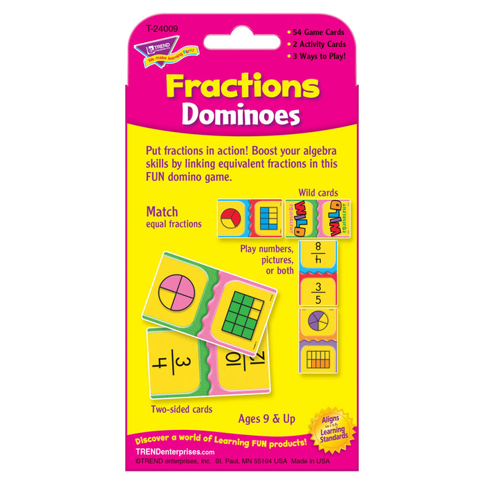 T24009 Game Cards Fractions Dominoes Package Back