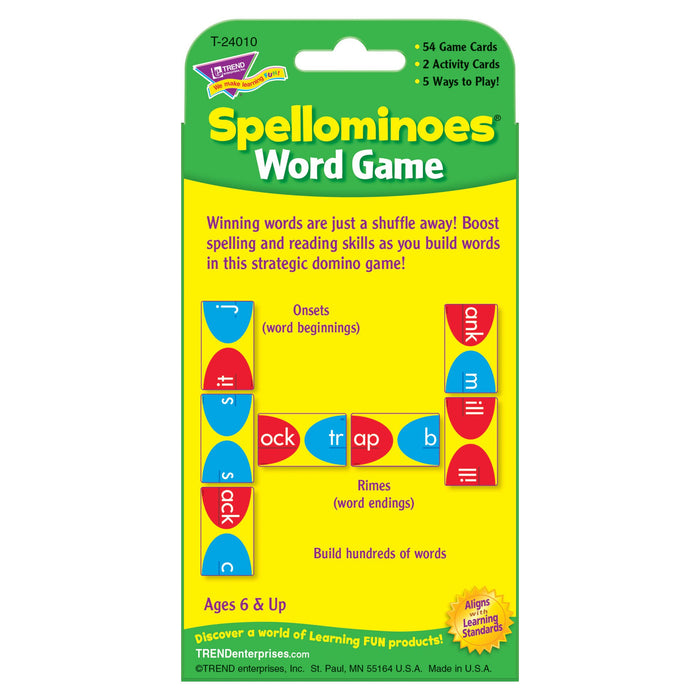 T24010 Game Cards Spellominoes Package Back