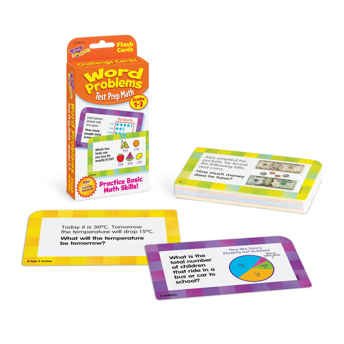 T24013 Flash Cards Word Problems Grades to 3