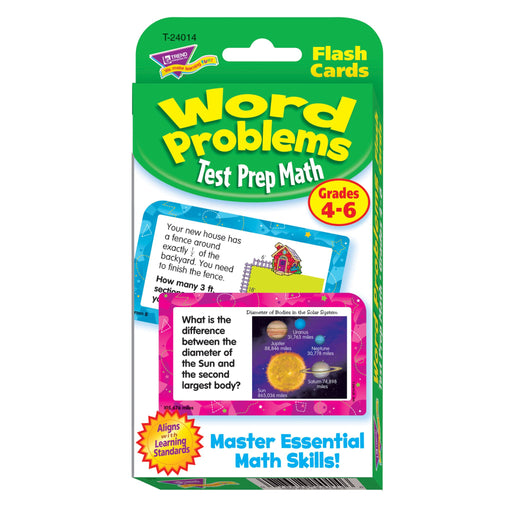 T24014 Flash Cards Word Problems Grades to Package Front