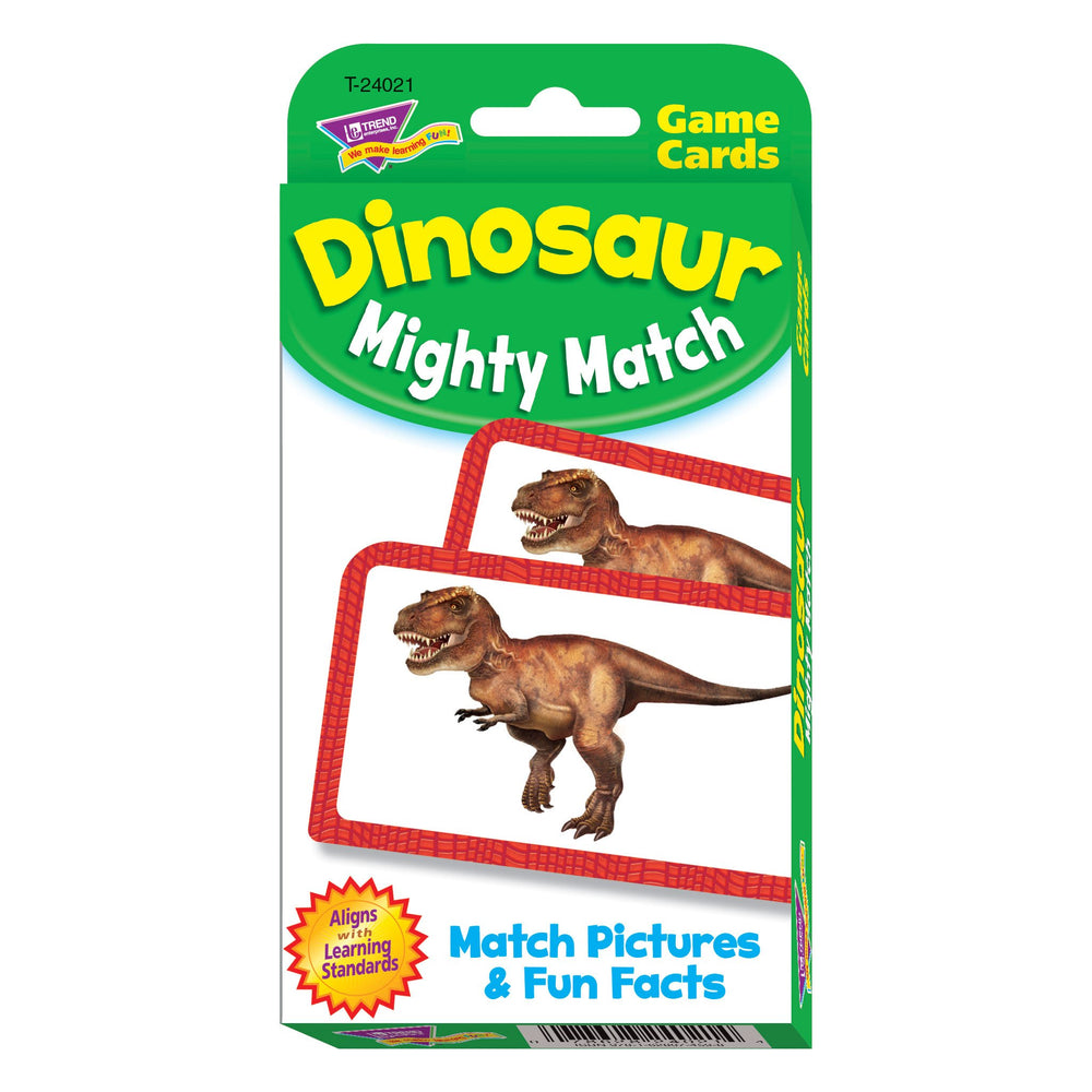 T24021 Game Cards Dinosaur Mighty Match Package Front