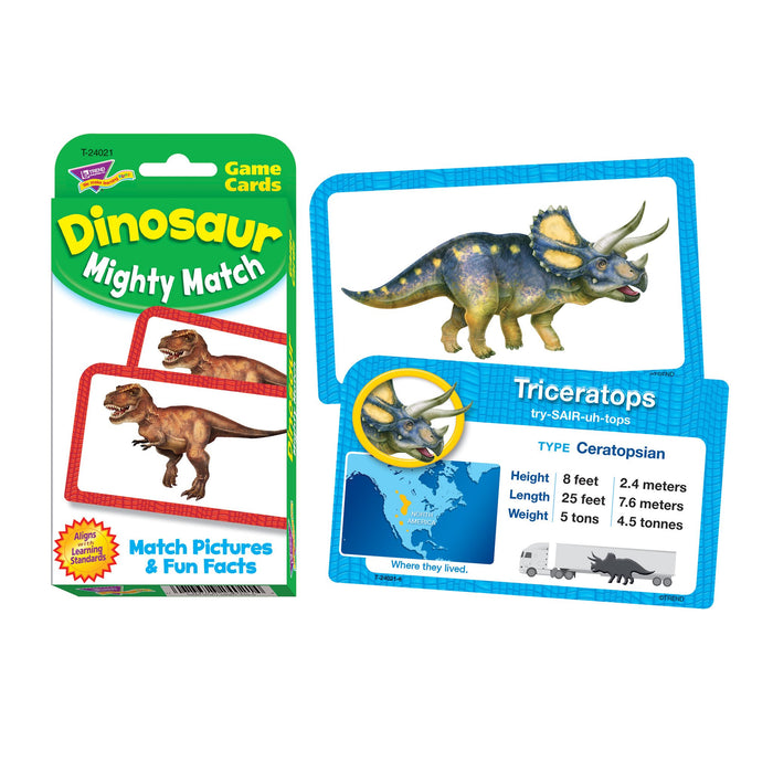 T24021 Game Cards Dinosaur Mighty Match