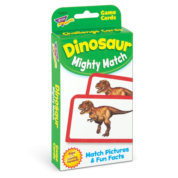 T24021 Game Cards Dinosaur Mighty Match Package Left
