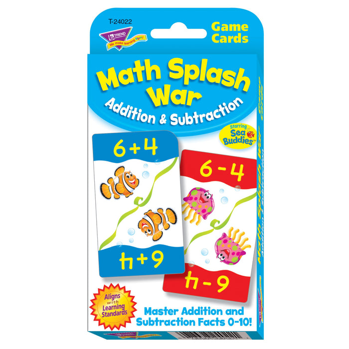 T24022 Game Cards Math Splash War Package Front